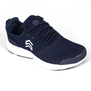 Light Weight Knitted Blue Sports Shoe with Show lace - (6106)