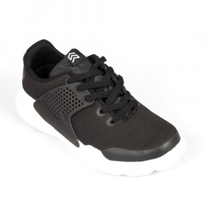 Light Weight Black & White Sports Shoe - (6108)