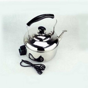 Baltra Solid 4 Ltrs Electric Whistling Kettle - (Chrome/Black)