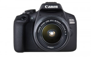 Canon EOS 2000D 24.2MP Digital SLR Camera With EF-S18-55 IS STM (16 GB Card + Bagpack + Tripod)- Black