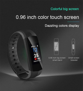 CD02 IP67 Waterproof Color Screen Bluetooth Smart Band