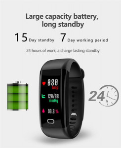F07 OLED Color screen Bluetooth Smart Band Bracelet IP68 Waterproof