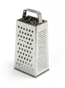 Stainless Steel Grater- Silver
