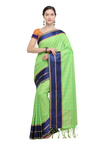 Stylee Lifestyle Green Art Silk Jacquard Saree (1913)