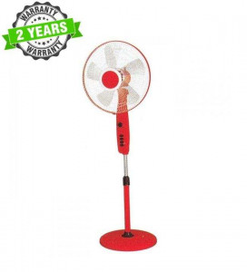 """Baltra BF128 DHOOM 3 Speed 16"""" Stand Fan With Remote - (Red)"""