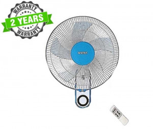 """Baltra BF139 CUTE+ 3 Speed 16"""" Wall Fan With Remote - (White/Blue)"""