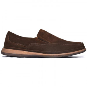 Shikhar Dark Brown Casual Leather Shoes for Men - 1705