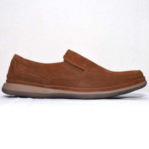 Shikhar Light Brown Casual Leather Shoes for Men - 1705