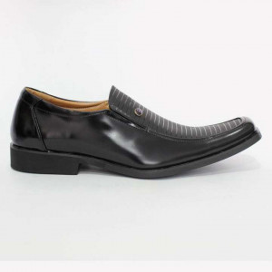 Shikhar Black Slip On Formal Leather Shoes for Men - 714