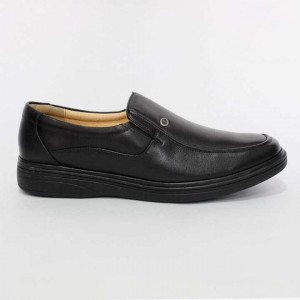 Shikhar Black Slip On Formal Leather Shoes for Men - 776