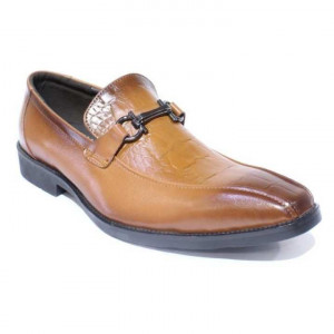 Shikhar Shoes Copper Brown Slip On Formal Leather Shoes for Men - 808