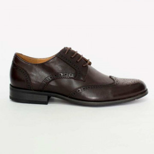 Shikhar Coffee Brogue Derby Leather Formal Shoes for Men - 804