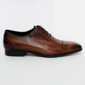 Shikhar Coffee Formal Leather Shoes for Men - 1719