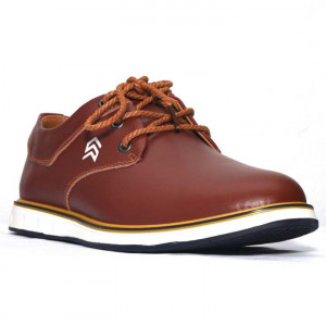 Shikhar Matte Brown Formal Lace-Up Shoes For Men - 1708
