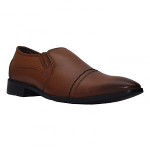 Shikhar Shoe 33025 Leather Formal Shoes For Men - TAN
