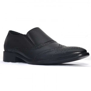 Shikhar Black Formal Leather Shoes for Men - 33027