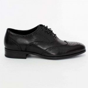 Shikhar Black Brogue Derby Formal Leather Shoes for Men - 803