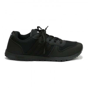 Goldstar Black Solid Casual Sports Shoes For Men