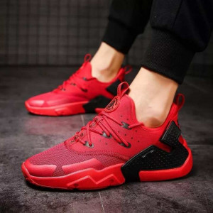 Plus Size Athletic Shoes Red  For Men
