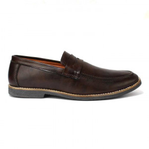Coffee Brown Slip On Casual Shoes For Men