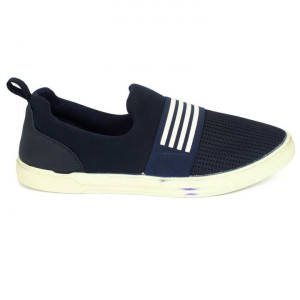 Blue/White Mesh Casual Shoes For Men