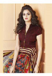 Stylee Lifestyle Multi Color Printed Gown-1560