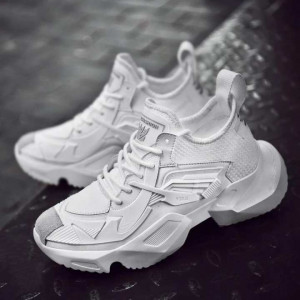Athletic Height Increase Gym Outdoor Sneakers For Men - Off White