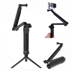 3-Way Adjustable Bracket Hand Grip Arm Action Camera Mount For GoPro Hero 4/3+/3