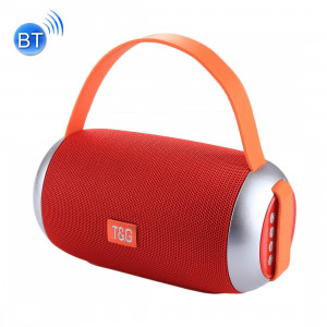 T&G Portable Bluetooth Speaker with Loud Stereo Sound for iPhone, Samsung, HTC, Sony Smartphones, with Mic for Hands-Free Phone Call Function, Support TF Card & U Disk Play (Red)