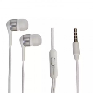 Power King Stereo Earphone With Microphone - White
