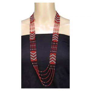 Aligned Multiple Layer Beads Woven Pote