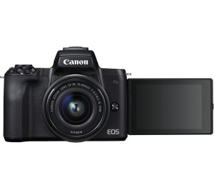 Canon EOS M50 Mirrorless Digital Camera with EF-M 15-45mm camera Kit - Black