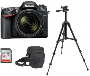 Nikon D7200 24.2 MP Digital SLR Camera (Black) with AF-S 18-140mm VR Kit Lens and 16GB Card, Camera Bag and Tripod