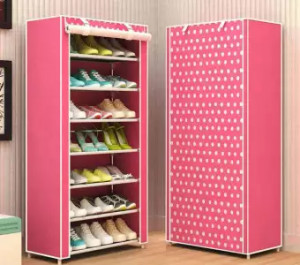 Shoe Rack 8-Layer 7-Grid Non-Woven Fabrics Shoe Storage For Home Furniture- Assorted Color
