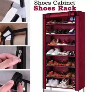 Shoes Cabinet 7 Layers Shoes Rack Multipurpose with Cover
