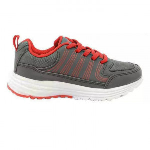 Goldstar Grey / Red Sports Shoes For Kids - Alba 01