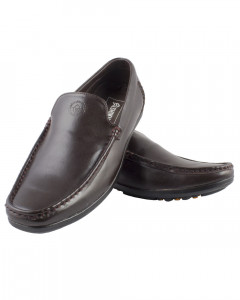 Shikhar Men's Brown Loafer Shoes