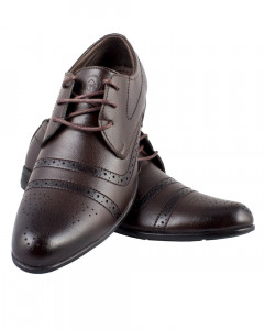 Shikhar Men's Brown Derby Shoes
