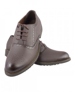 Shikhar Men's Coffee Brown Formal Shoes