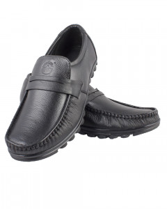 Shikhar Men's Black Loafers