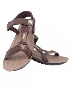 Shikhar Men's Brown Casual Velcro Closure Sandals