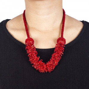 Pote Store's Red Gold Coast Pote Mala  Necklace