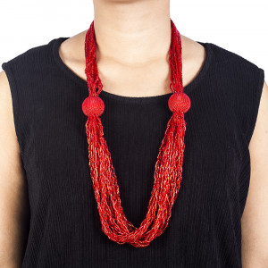 Pote Store's Red Boutique Mystique Western Pote Mala  Necklace