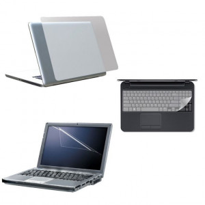 """Aafno Pasal 3 in 1 Laptop Skin Pack More Safe More Protection 15.6"""""""